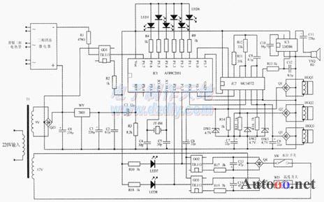 用单片机设计制作的开水器智能检测控制电路